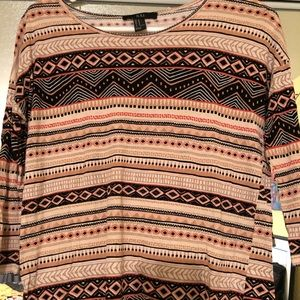 Forever 21 half sleeve tribal tee